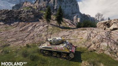 [BCSF] Loza's M4-A2 Sherman [haruru minamo ni!] [Hatagami Mei]스킨 0.0 [1.5.0.4], 1 photo